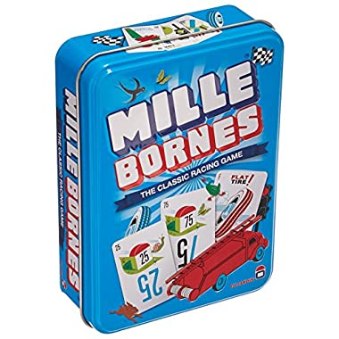 Asmodee Mille Bornes Card Game in Colorful Tin