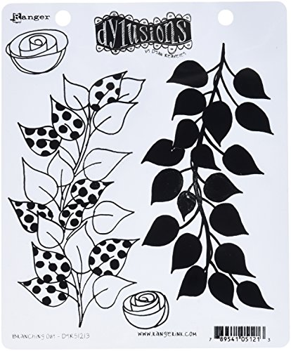 Ranger DYR51213 Branching Out Dyan Reaveley's Dylusions Cling Stamp Collections, 8.5-Inches by 7-Inches