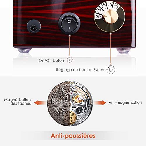 INTEY Remontoir à Montres Automatique, Boîte de Rangement Automotique, 4 Modes de...