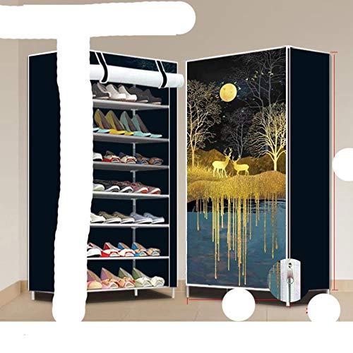 M¨²ltiples capas de zapatos, estante, soporte, puerta, zapato, ahorro de espacio, guardarropa para el hogar, almacenamiento-Azul, China