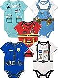 Funstuff Coole Strampler, Arzt, Handwerker, Feuerwehrmann, Kurzarm Body für Jungen und Mädchen, 5er Set, 18 Monate