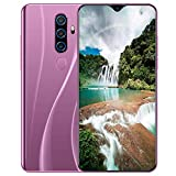 AXZXC Lila Großbild-Dual-Rückfahrkamera-Telefon Fingerabdruck + Gesichtserkennung 10-Core-Smartphone Akku 4800 MAh Hochauflösende Stoßfeste Mobiltelefone EU-Richtlinien,Aurora Purple