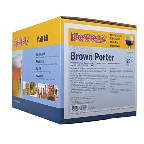Fertige Malzmischung zum Brauen von 20Liter Brown Porter - Malzpaket zum Bier brauen - ungeschrotet