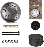 スチールタンドラム、 スチール舌ドラム舌ドラム13トーン12インチ、サンスクリットドラムのプレミアム金属チャクラタンクドラム(色:E)の鋼鉄パーカッション器具 ディッシュ形ドラム、ハンドドラム (Color : A)