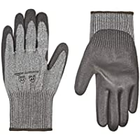 6-Pairs AmazonCommercial Cut Resistant Liner & Polyurethane Coated Gloves
