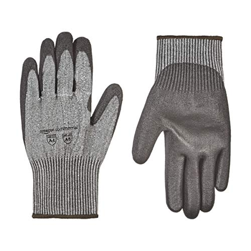 AmazonCommercial 13G HPPE Cut Resistant Liner & Polyurethane Coated Gloves