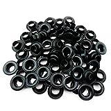 C.S. Osborne Black Grommets & Washers #B1-0 Size 0 (1/4' Hole) 144 Sets