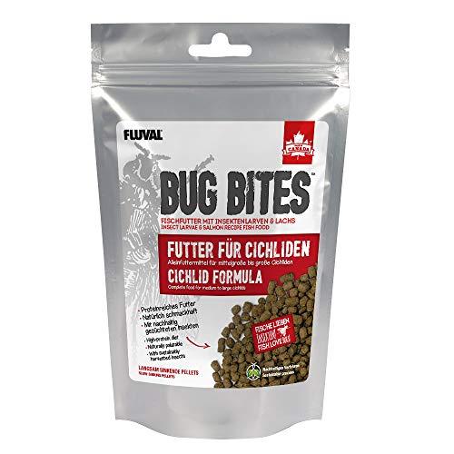 Fluval Bug Bites Alleinfutter für Cichliden, M-L, 1er Pack (1 x 100 g)