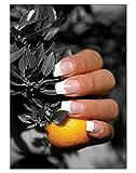 Poster Black Orange Nails DIN A3 Nagelstudio Nageldesign