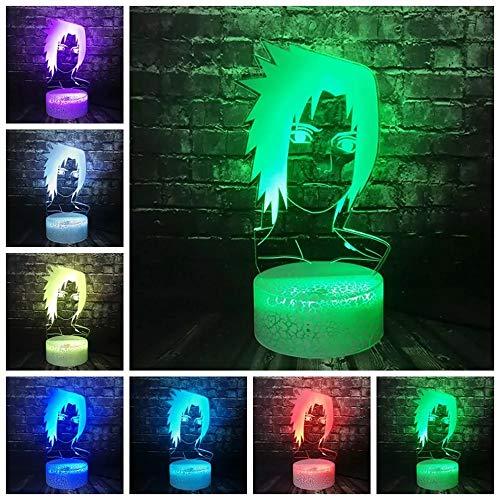 Anime japonés anime Naruto Uzumaki Naruto luces LED ideas de regalos para habitación de niños