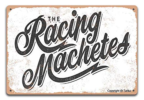 The Racing Machetes Retro Look 20 x 30 cm Hierro Decoración Arte...