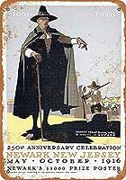 ニューアークニュージャージー生誕50周年 メタルポスター壁画ショップ看板ショップ看板表示板金属板ブリキ看板情報防水装飾レストラン日本食料品店カフェ旅行用品誕生日新年クリスマスパーティーギフト