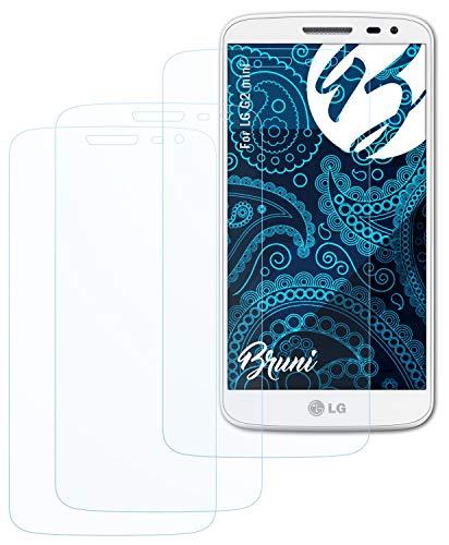 Bruni Schutzfolie kompatibel mit LG G2 Mini Folie, glasklare Bildschirmschutzfolie (2X)