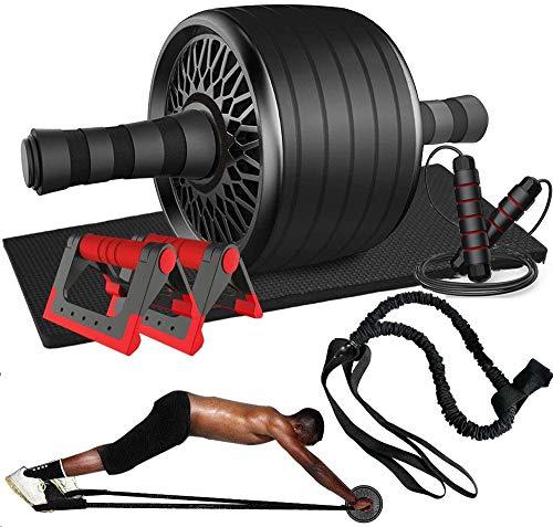 Abdominales Casa Gimnasio Musculacion, 1 Rodillo de Rueda Abdominales AB Wheel Roller,...