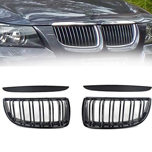 Car Dumb Black Front Kidney Grill Grilles For BMW E90 E91 318 320i 325i 330i 2006-2008 Auto Intake Grille Se30