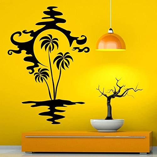 Geiqianjiumai Abstract palmwater knippert schaduwfotowand kunstvinylwand-sticker