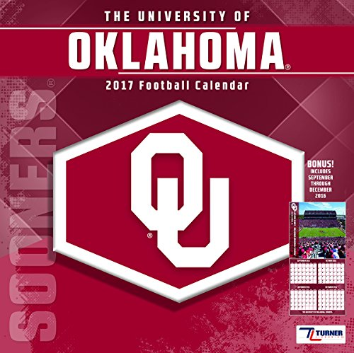 "Turner Licensing Sport 2017 Oklahoma Sooners Team Wall Calendar, 12""X12"" (17998011813)"
