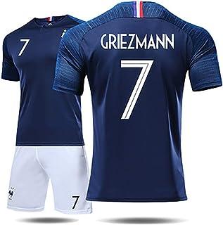 DEAN Französisches Trikot Herren- und Damenanzüge Weltmeisterschaft 2018 2 Sterne 10 Mbape 7 Grizzmann-Fußballuniform.