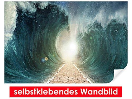 Image murale auto-adhésif Moses Way – Facile à coller – Wall Print Wall Paper, Poster, film vinyle avec point décoratif pour murs, portes, meubles et toutes les surfaces lisses de Trend murs, 90 x 60 cm