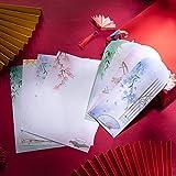 Carta da Lettere e Buste, Comius Sharp Set di Carta da Lettere, 40 Fogli di Carta , 40 Buste Lettere Retrò Stile Vintage Cinese Regalo Saluti Auguri Compleanno, Set di Carta da Lettere in Stile