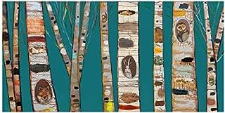GreenBox Art + Culture GreenBox - Teal Birch Trees 36x18 Canvas Wall Art, by Eli Halpin