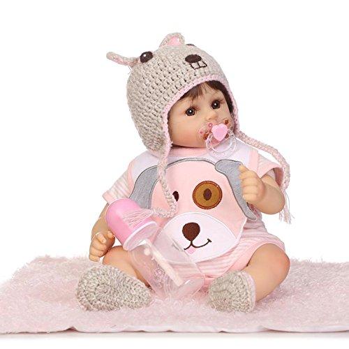 iCradle Reborn Baby Dolls Schöne Süß 17inch Weiches Silikon Lebensechte Puppen Babys Handgemachtes Vinyl Realistische Reborn Baby Puppe Junge (Girl)