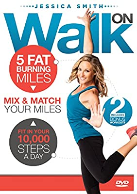 Walk On 10,000 Steps Weight Loss 5 Fat Burning Miles Indoor Walking Exercise DVD