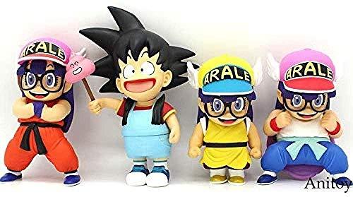Dr Slum Arale Cosplay Dragon Ball Z sind Goku Krillin Anime Cartoon lustige PVC-Sammlung Figure Spielzeugmodell 18~24m 4 Arten A-C-SI