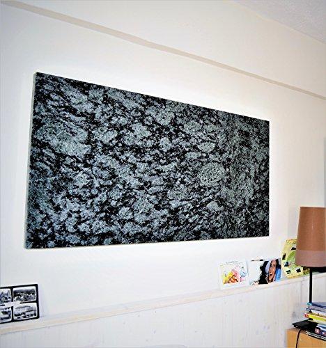 Infrarotheizung Granit Olive Green poliert 600 Watt m. TÜV - selbstregelnde Steuerelektronik - höhere Speicherkapazität als Alu, Blech, Glas - rückseitige Isolierung - Deutscher Hersteller