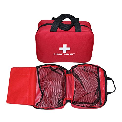 Aoutacc Nylon First Aid Empty Kit,Compact and Lightweight First Aid Bag for Emergency at Home, Office, Car, Outdoors, Boat, Camping, Hiking(Bag Only)