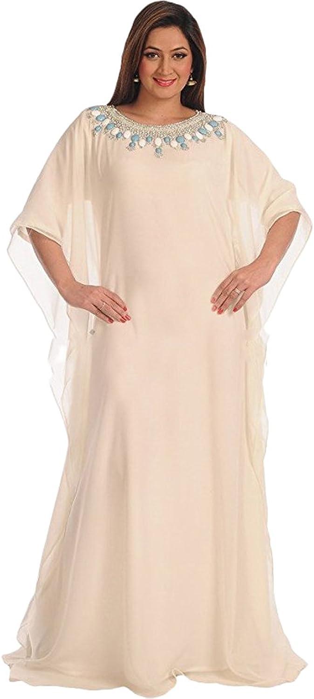 MaximCreation Fancy MAGHRIBI Jalabiya Islamic Arabian Thobe Maxi Dress for Women
