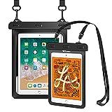 Weuiean iPad Waterproof Case - 1 Pack Black, Waterproof Mini Case - 1 Pack Black