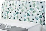 ZXLRH , Funda universal para cabecera de cama de estilo nórdico de tela elástica suave con cabezal y funda trasera para cama individual y doble, K-190-210 cm