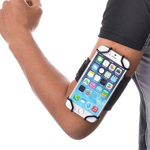 TFY Polsino Sportivo Aperto+Porta Chiavi per Cellulari da 4 a 5.5 Pollici - iPhone 4 / 4s iPhone 5 / 5 S iPhone 6 / 6S / 7 - iPhone SE - iPod touch 5t