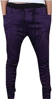 Mogogo Mens Comfy Chic Pure Color Waistband Stretchy Harem Pant
