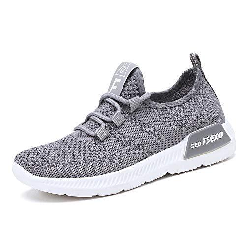 DKZK Hombre Y Mujer Zapatillas Deportivas para Hombre Transpirables para Exteriores Fitness Jogging Deportes Zapatillas para Mujer Casuales Sneaker