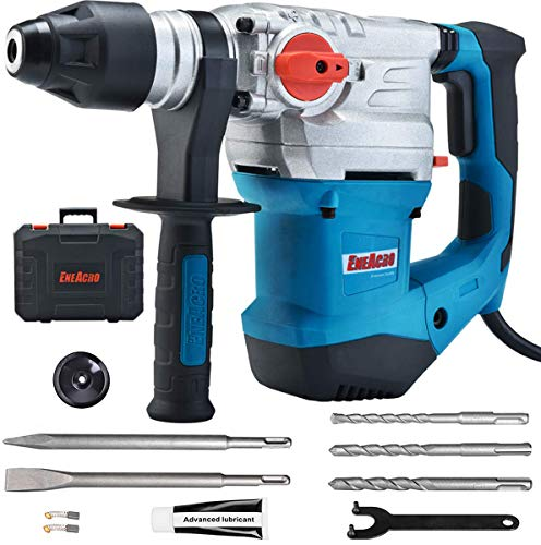 ENEACRO 1-1/4 Inch SDS-Plus 13 Amp Heavy Duty Corded Drill With Safety Clutch And Vibration Control Including Grease