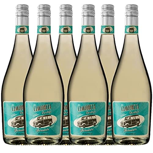 Vino Blanco Frizzante La Camioneta - Caja de 6 Botellas de 75 cl