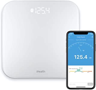 iHealth Lina Smart Digital Body Weight Scale,Bathroom Scale With Step-on Technology, 400 Lb, High Accuracy 0.1 Lb, BMI Sma...
