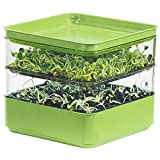 Gardens Alive! Two-Tiered Seed Sprouter - Ideal for indoor sprout growing for a healthy snack or...