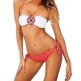 Embryform Baño Bikini Beach Mujer sin Tirantes Acolchado Cristal Decorar Caliente Atractivo del Verano