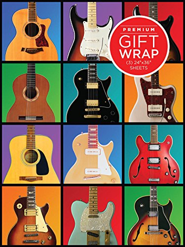 Retro Guitar Wrapping Paper