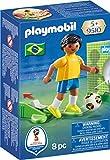 Playmobil Fútbol- Jugador Brasil Muñecos y Figuras, Multicolor, 4,5...