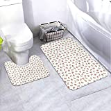 2 Piece Bathroom Rug Set, Non Slip Bath Mats and Contour Bath Rug Combo, (Mary Engelbreit)