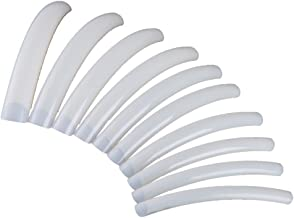FlyItem 100 Pcs Curve Extra Long False Nail Art Tips Acrylic Fake Nail Tools Kit (Natural)