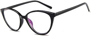 iCaptainAB Cat Eyeglass Frames for Women Vintage 80s Inspired Non Prescription Clear Lens Cateyes Gl