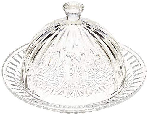 Queijeira De Cristal C/tampa Renaissance 20cm Lyor Transparente No Voltagev