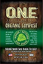 Organic New Earth-ODORLESS Organic Soil Additive made from steroid-free chicken manure and all-natural green waste-All Natural Compost-Organic Indoor/Outdoor Plant Potting Soil