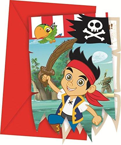 Generique - 6 Cartes dinvitation Jake et Les Pirates