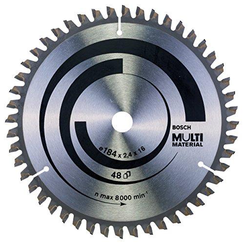 Bosch Professional Zubehör 2608640815 Kreissägeblatt Multi Material 184 x 16 x 2,4 mm, 48